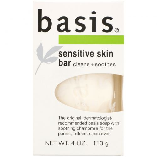 Basis, Кусковое мыло для чувствительной кожи, 113 г (4 унции)