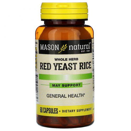 Mason Natural, Красный дрожжевой рис 1200, 60 капсул