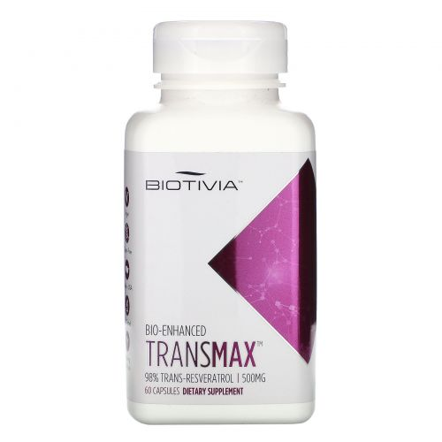 Biotivia, Transmax, 500 мг, 60 капсул