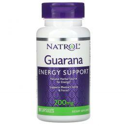 Natrol, Гуарана, 200 мг, 90 капсул