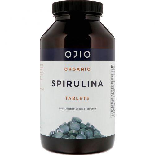 Ojio, Спирулина органическая, 500 мг, 500 таблеток