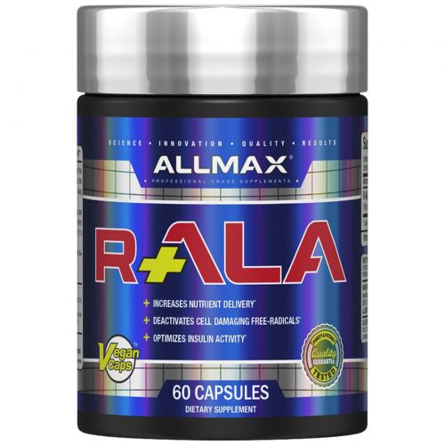 ALLMAX Nutrition, R+ Alpha Lipoic Acid (Max Strength R- Alpha Lipoic Acid), 150 mg, 60 Veggie Capsules