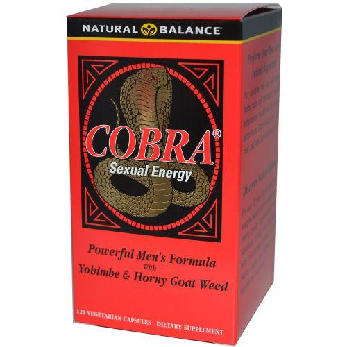 Natural Balance, Сексуальная энергия Cobra, 120 растительных капсул