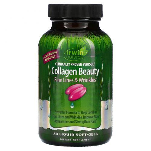 Irwin Naturals, Коллаген для красоты, веризол с клинически доказанной эффективностью, 80 мягких капсул с жидким наполнителем