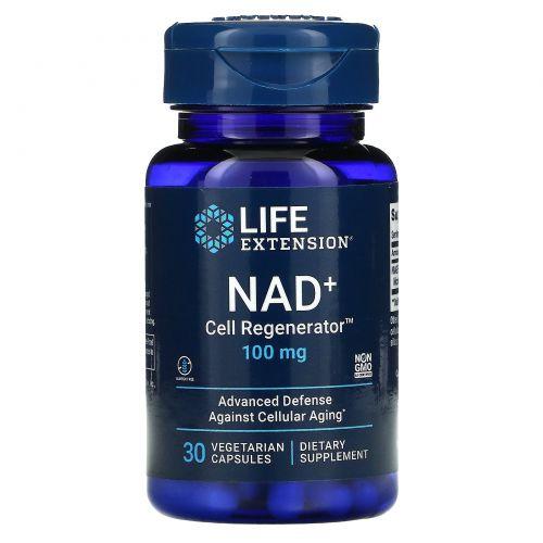 Life Extension, регенератор НАД и клеток, 100мг, 30вегетарианских капсул