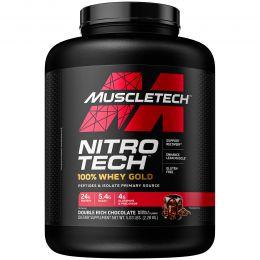 Muscletech, Nitro Tech, 100% Whey Gold, двойное содержание шоколада, 5,53 фунта (2,51 кг)