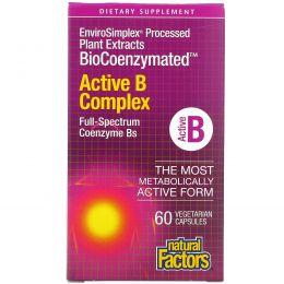 Natural Factors, BioCoenzymated, Active B Complex, 60 Vegetarian Capsules