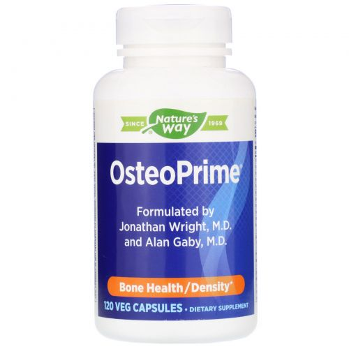 Enzymatic Therapy, OsteoPrime, Средство для поддержания здоровья костей, 120 вегетарианских капсул