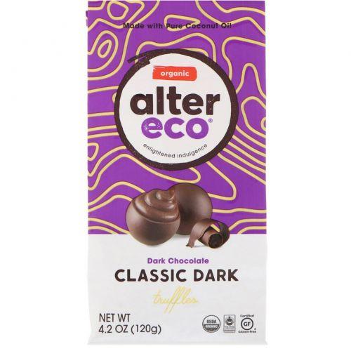 Alter Eco, Органический темный шоколад, черный трюфель, 4,2 унции (120 г)