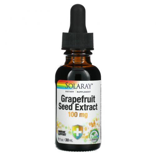 Solaray, Grapefruit Seed Extract, 100 mg, 1 fl oz (30 ml)
