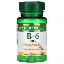 Nature's Bounty, Витамин B-6, 100 мг, 100 таблеток