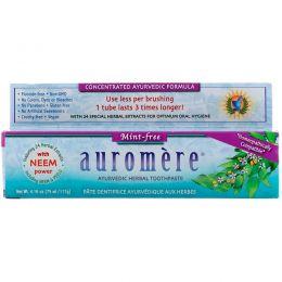Auromere, Аюрведическая зубная паста на травах, не содержит мяты, 4,16 унции (117 г)