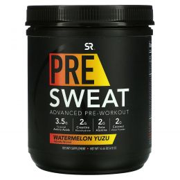 Sports Research, Pre-Sweat Advanced Pre-Workout, Watermelon Yuzu, 14.46 oz (410 g)