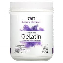 Zint, Желатин из говядины травяного откорма, сгущающий белковый порошок, 32 унц. (907 г)