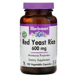 Bluebonnet Nutrition, Красный дрожжевой рис, 600 мг, 120 растительных капсул