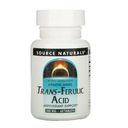 Source Naturals, Транс-феруловая кислота, 250мг, 60таблеток