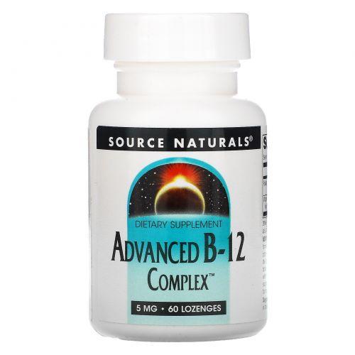 Source Naturals, Улучшенный комплекс B-12, 5 мг, 60 таблеток