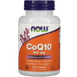 Now Foods, CoQ10, 100 мг, 150 гелевых капсул