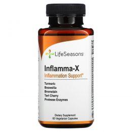 LifeSeasons, Inflamma-X, поддержка при воспалении, 60 вегетарианских капсул