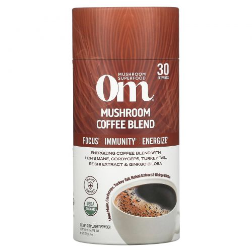 Om Mushrooms, Mushroom Coffee Blend, 6.24 oz (177 g)