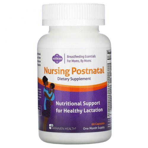 Fairhaven Health, Мультивитамины для кормящих женщин Nursing Postnatal, 60 капсул