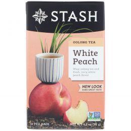 Stash Tea, Чай улун высшего сорта, белый персик, 18 чайных пакетиков, 1,2 унции (35 г)