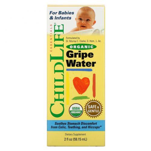 ChildLife, Органическая Вода против Коликов, 2 жидких унций (59,15 мл)