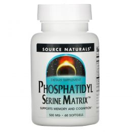 Source Naturals, Phosphatidyl Serine Matrix, фосфатидилсерин, 60 капсул