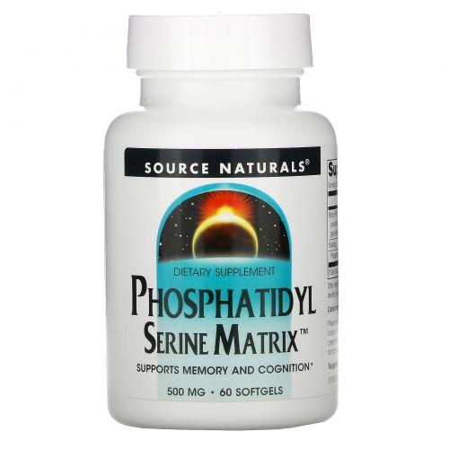 Source Naturals, Phosphatidyl Serine Matrix, фосфатидилсерин, 60 капсул