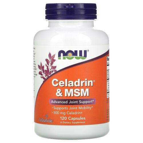 Now Foods, Целадрин и метилсульфонилметан (МСМ), 500 мг, 120 капсул