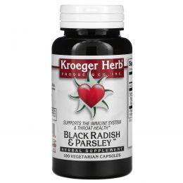 Kroeger Herb Co, Черная редька и петрушка, 100 вегетарианских капсул