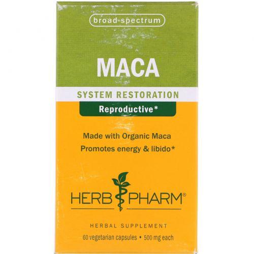 Herb Pharm, Мака, 500 мг, 60 вегетарианских капсул