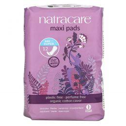Natracare, Натуральные гигиенические прокладки, 12  супер прокладок