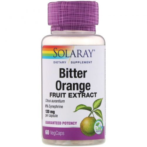 Solaray, Bitter Orange Fruit Extract, 120 mg, 60 VegCaps
