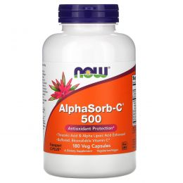 Now Foods, AlphaSorb-C 500, 180 вегетарианских капсул