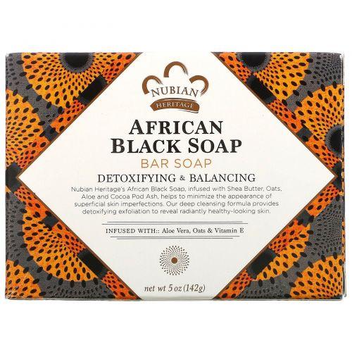 Nubian Heritage, Африканское черное мыло кусковое, 141 г (5 унц)