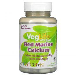 VegLife, Красный морской кальций, 90 таблеток
