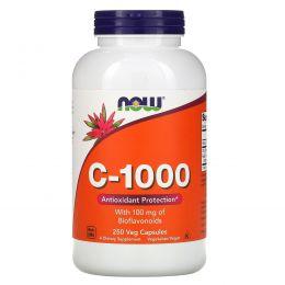 Now Foods, C-1000, 250 вегетарианских капсул