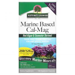 Nature's Answer, Калий и магний растительного происхождения, 500/250 мг, 120 вегетарианских капсул