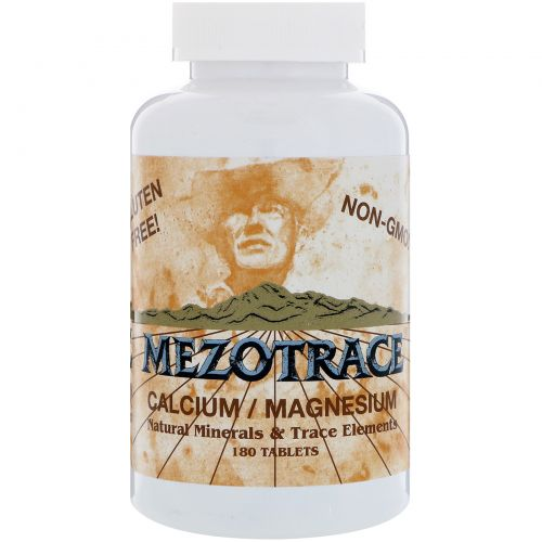 Mezotrace, Кальций/магний, натуральные минералы и микроэлементы, 180 таблеток