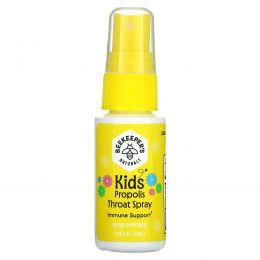 Beekeeper's Naturals, спрей для горла с прополисом для детей, 30мл (1,06жидк.унции)