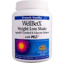 Natural Factors, WellBetX, Средство для похудения, французская ваниль, 1,9 фунтов (854 г)