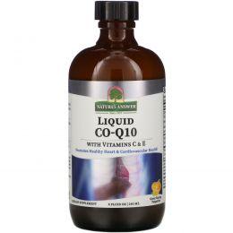 Nature's Answer, Жидкий Co-Q10 с витаминами С и Е, 8 жидких унций (240 мл)