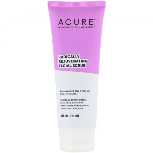 Acure Organics, Radically Rejuvenating, Facial Scrub, 4 fl oz (118 ml)