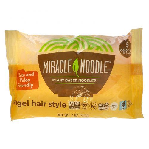 Miracle Noodle, Волосы ангела, Лапша Ширатаки, 7 унций (198 г)