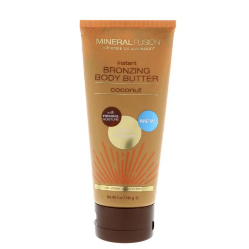Mineral Fusion, Instant Bronzing Body Butter, Light/Medium, Coconut, 5 oz (141 g)