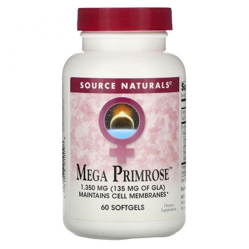 Source Naturals, Мега Примула 60 гелевых капсул