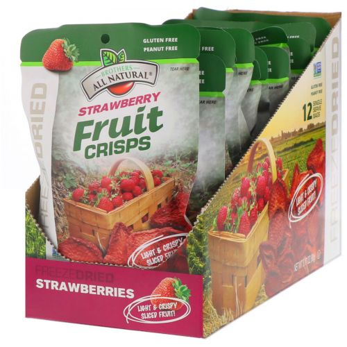 Brothers-All-Natural, Strawberry, 12 bags (.26 oz each)