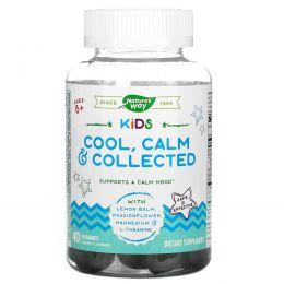 Nature's Way, Kids, Cool, Calm&Collected, успокаивающее средство для детей старше 8лет, виноградный вкус, 40жевательных конфет