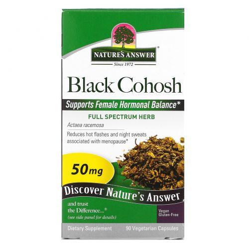 Nature's Answer, «Полный спектр», клопогон кистевидный, 50 мг, 90 растительных капсул